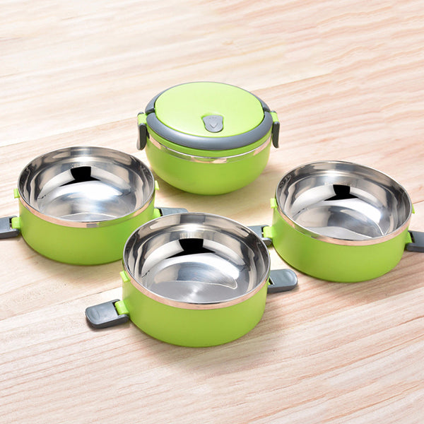 4 Layers Stainless Steel Lunch Box Portable Bento Food Containers Dinnerware Set - MagCloset