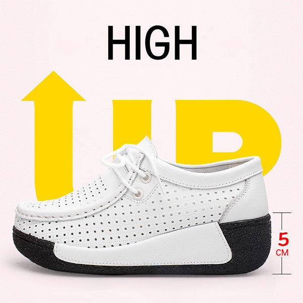2018 New Fashion Hollow-out Suede Platform Rocker Bottom Shoes - MagCloset
