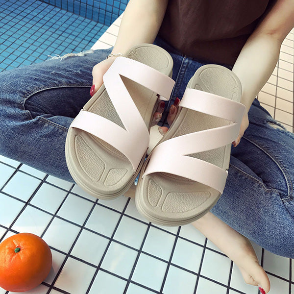 Simple Fashion Comfy Flat Slippers