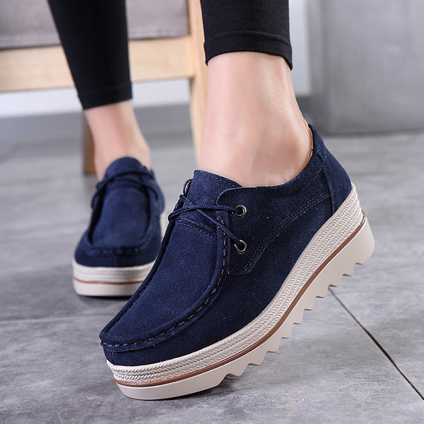 2018 New Fashion Suede Platform Rocker Bottom Shoes - MagCloset