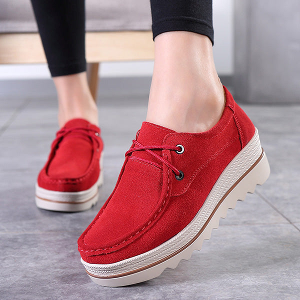 2018 New Fashion Suede Platform Rocker Bottom Shoes