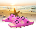 Large Size Double Buckle Beach Slippers Lovers Shoes - MagCloset