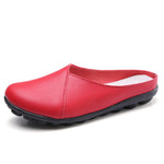 Big Size Pure Color Soft Sole Casual Open Heel Cosy Flat Shoes