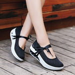Two Way Mesh Platform Casual Breathable Rocker Bottom Shoes
