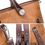 Vintage Faux Leather Handbags Crossbody Bags