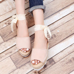 Fashion Platform Lace Up Sandals - MagCloset