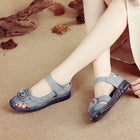 Retro Flower Breathable Shoes Ethnic Style  Casual Comfy Sandals