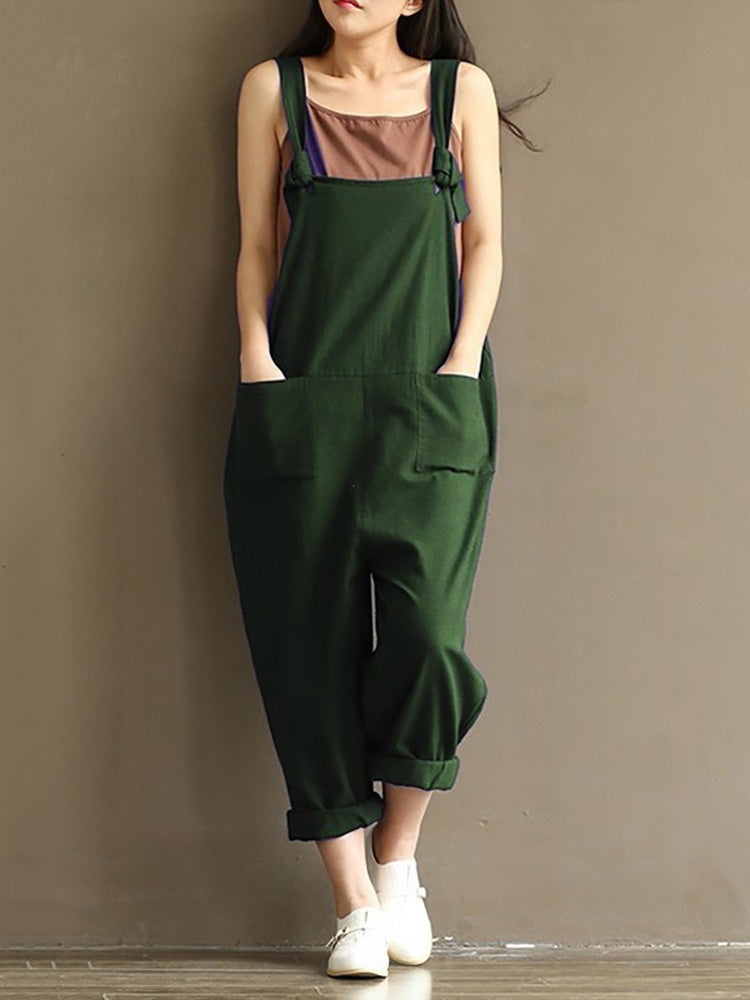 Casual Strap Pockets Jumpsuit For Women - MagCloset