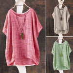Vintage Casual Blouses Round Neck Shirts