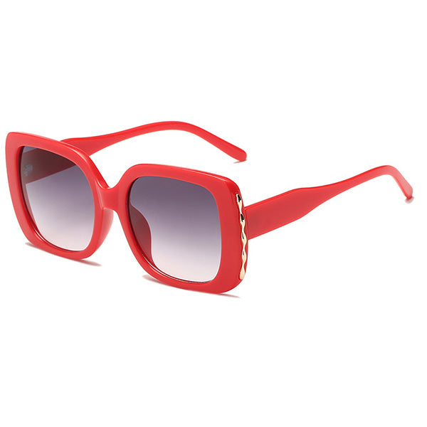 Retro Big Square Frame Sunglasses