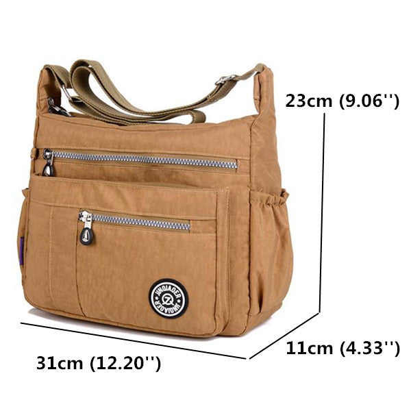 Women Nylon Casual Waterproof Multi-pocket Shoulder Bags Crossbody Bags