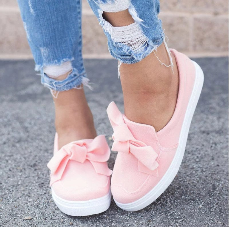 Large Size Casual Bowknot Shoes - MagCloset