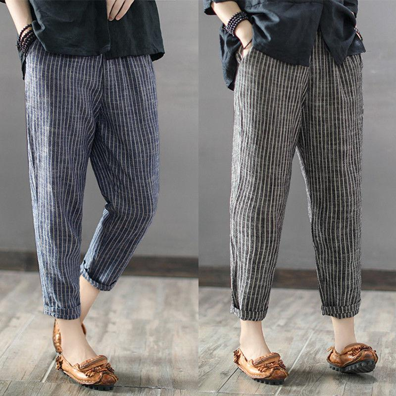 Casual Stripe Leisure Trousers Long Pants