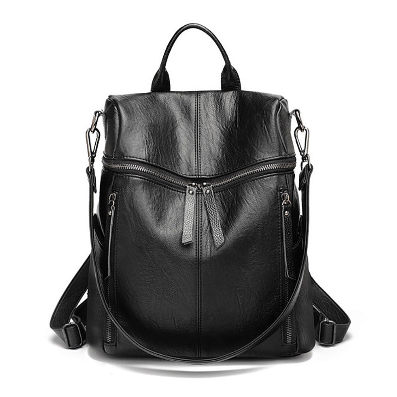 Vintage Women Backpack PU Leather school Casual Large Capacity Shoulder Bags