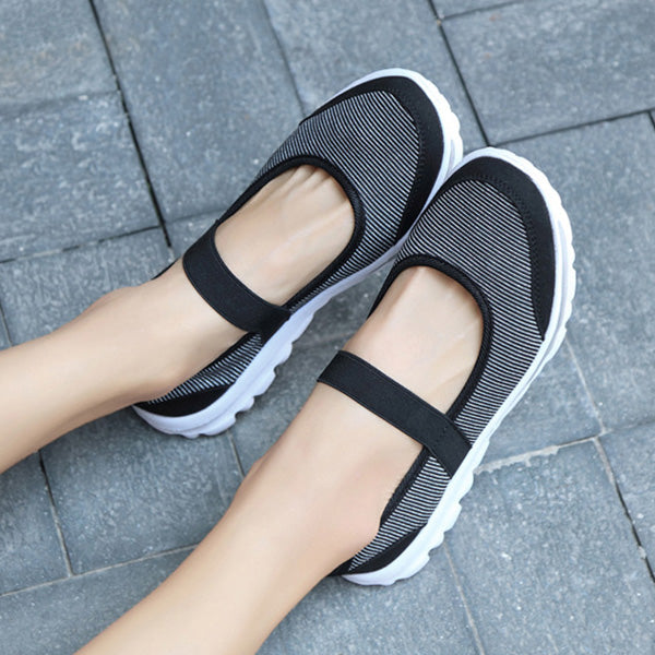 Breathable Elastic Flat Shoes Athletic Sneakers - MagCloset