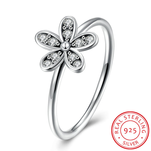 Five Leaf Clover 925 Sterling Silver Zircon Ring - MagCloset