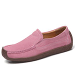 Cowhide Leather Slip On Leisure Snail Shoes Flat Loafers - MagCloset