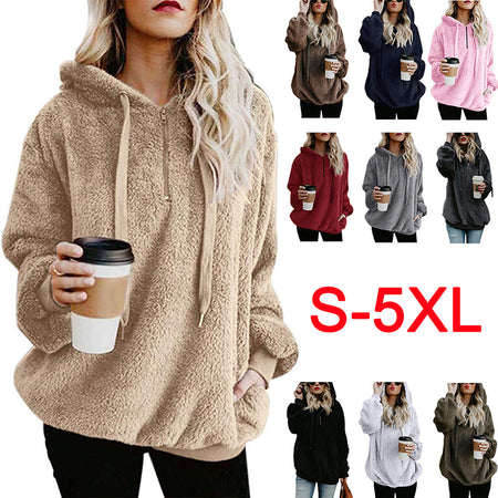 Cozy Fleece Hooded Pullover Hoodie - MagCloset