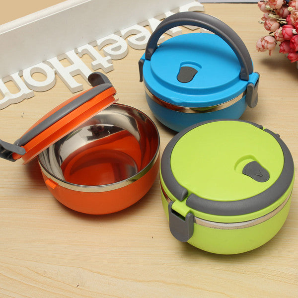 Stainless Steel Lunch Box Portable Bento Food Containers Dinnerware Set