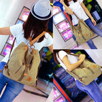 CLEARANCE-Women Canvas Casual Multifunctional Microfiber Leather Large Capacity Handbag Shoulder Bags Backpack