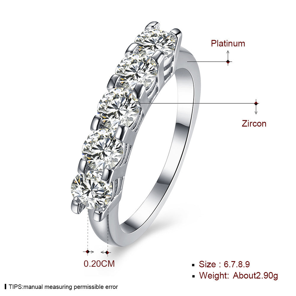 5 Diamond Hearts and Arrows Ring - MagCloset
