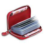 CLEARANCE-Genuine Leather 20 Card Slots Card Holders Coins Bags Purse For Women