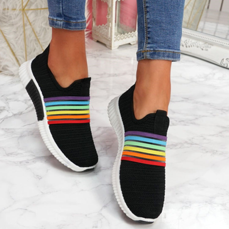 Woven Fabric Casual Shoes Breathable Sneakers