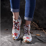 Colorful Flower Style Lady Ankle Boots