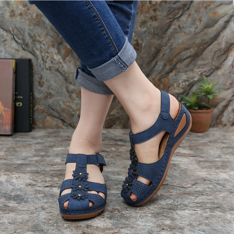 Velcro Soft Comfortable Wedge Sandals