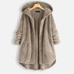 Casual Buttoned Hooded Coat