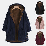 Long-sleeved Double-Color Plush Patchwork Coat