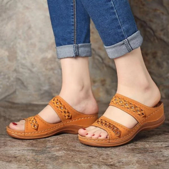 Comfortable Slippers Retro Wedges Lightweight Shoes