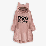 Warm Fleece Cat Ears Hoodie