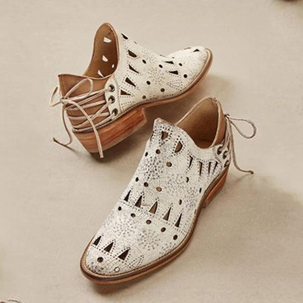 Fashion Western Hollow Sandals Boots