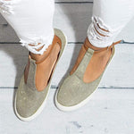T-Strap Casual Flat Loafers