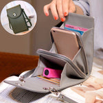 Vintage Multi-Functional PU Leather Shoulder Crossbody Phone Bag
