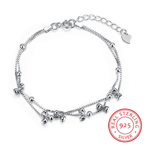925 Sterling Silver Small and Exquisite Chain Bracelet - MagCloset