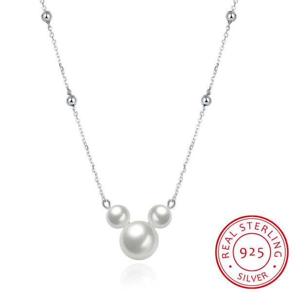 925 Sterling Silver Pearl Pendant Necklace - MagCloset