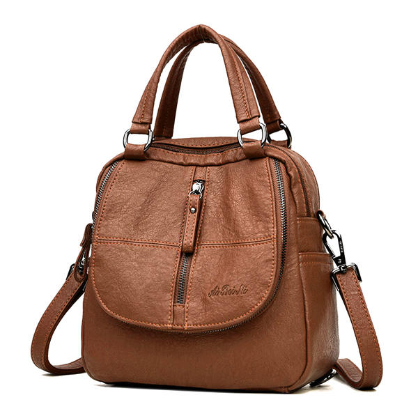 Women Fashion Leather Handbags Multipurpose Backpack Shoulder Crossbody Bag