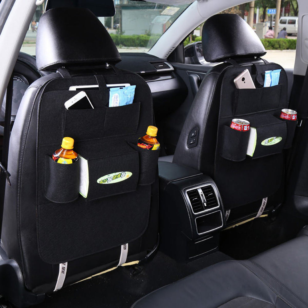 Car Seat Back Multi-Pocket Hanging Holder Storage Bag Tidy Organizer Storage Shelves Bins - MagCloset
