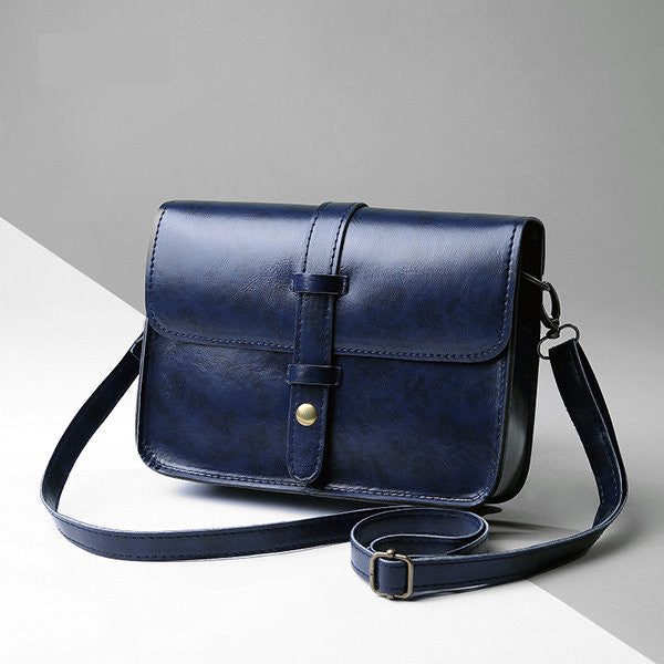 CLEARANCE-Vintage Women PU Leather Portable Phone Bag Messenger Crossbody Shoulder Bags