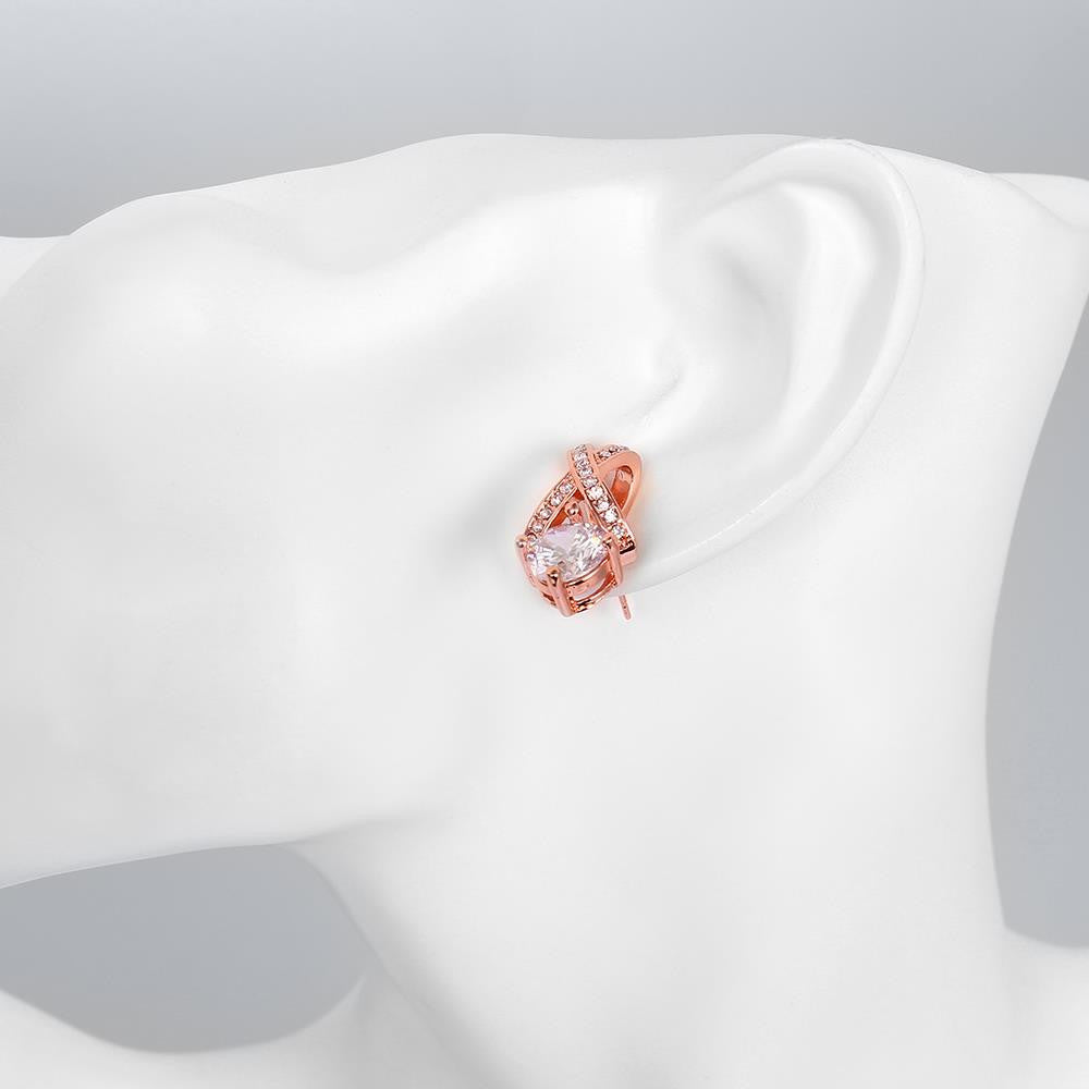 Fashion Antiallergic Rose Gold Plated diamante Earring stud For Women - MagCloset