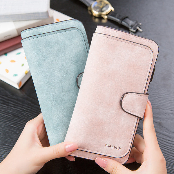 14 Card Slots Woman Four Fold Wallet Purse PU Card Bag Multi-Card Slots Phone Bag - MagCloset