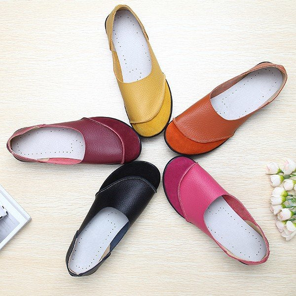 Match Soft Comfy Ballet Pattern Casual Flat Shoes - MagCloset