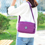 Woman Nylon Waterproof Crossbody Bag Casual Outdoor Shoulder Bag