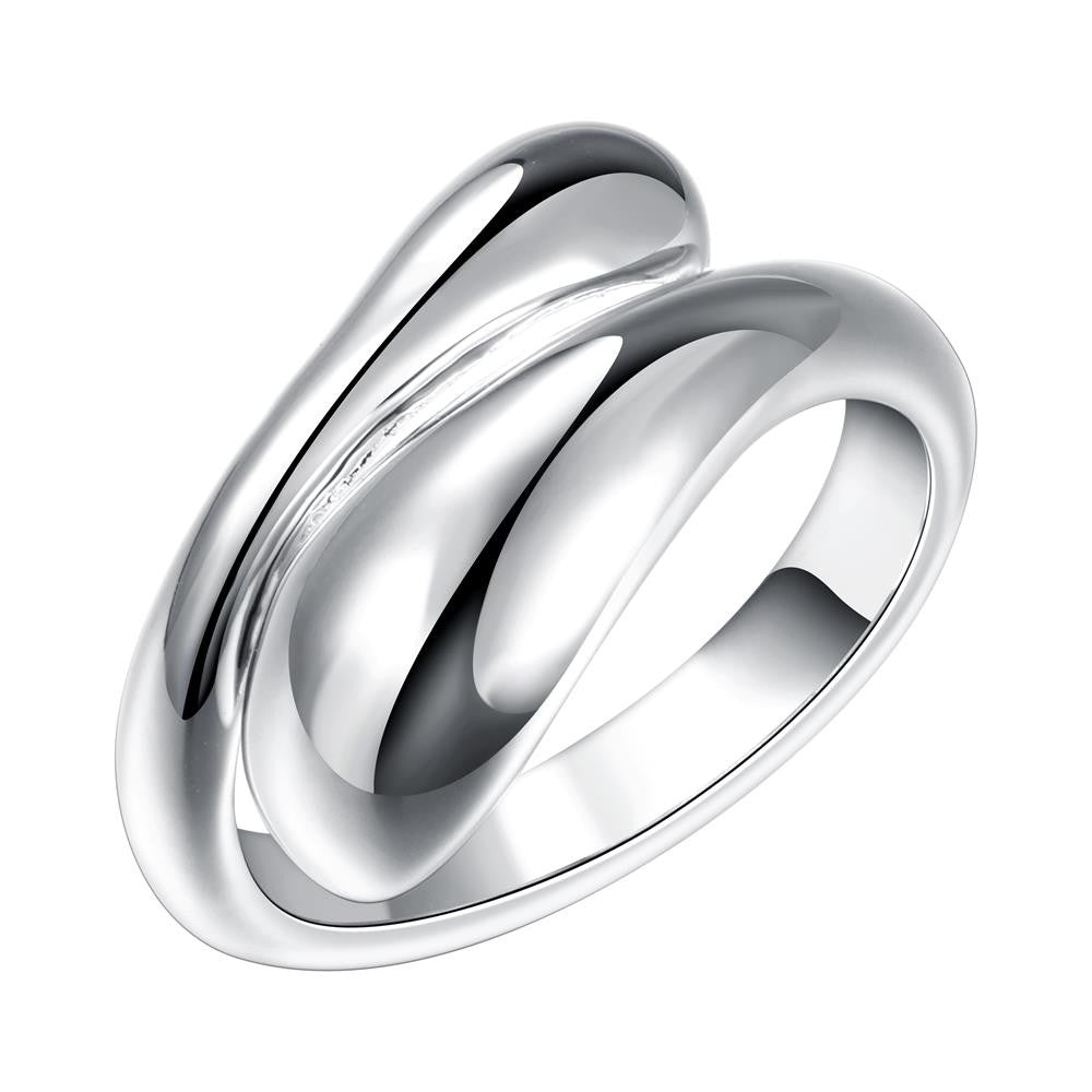 Classic Water Drop Silver Plated Rings For Men and Women