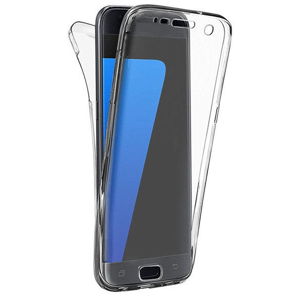 CLEARANCE-For Samsung Galaxy S7 Edge 360¡ã Front And Back Protective TPU Clear Case Cover