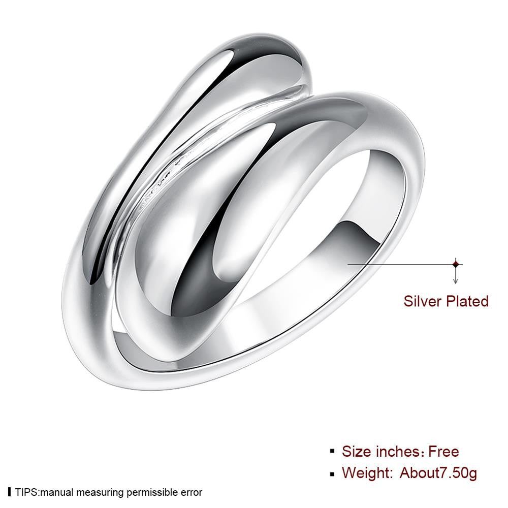 Classic Water Drop Silver Plated Rings For Men and Women - MagCloset