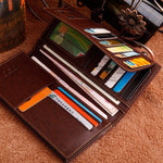 CLEARANCE-16 Card Slots Card Holder PU Leather Wallet Big Capacity Coin Purse For Women Men