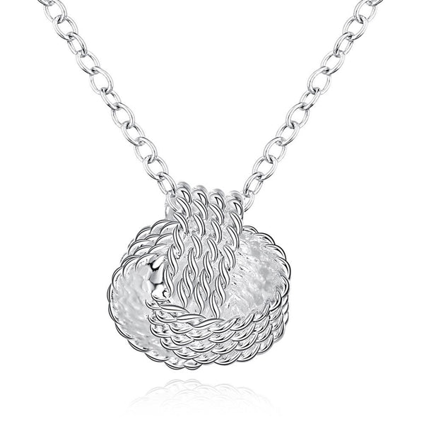 Simple Fashion Mesh Ball Shape Pendant Necklace